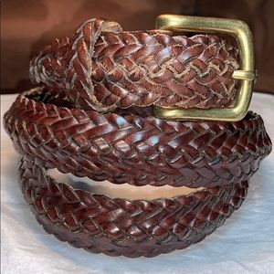 Coach woven leather high quality leather belt